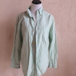 CHAPS GREEN BUTTON DOWN SHIRT M